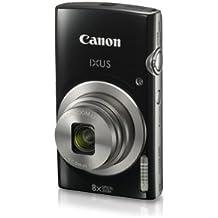 Canon IXUS 185 Digital Camera (Black) With 8GB Memory Card And Camera Case