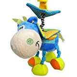 Adorable Blue Hanging Horse Jitter Stroller Plush Toy