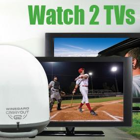 2 TV Portable Satellite Antenna