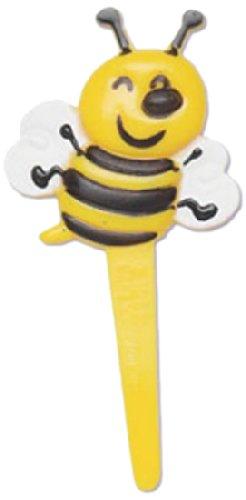 Bakery Crafts Bumble Bee Cupcake Picks, 12-Pack