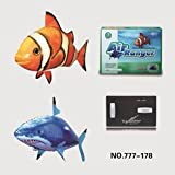 Air Ranger Remote Controlled Swimmers Flying Clownfish and Shark Toy (Set of 2)