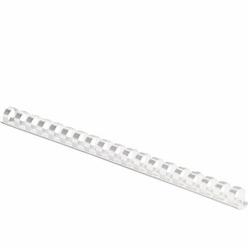 "Fellowes Plastic Comb Bindings, 1/2"" Diameter, 90 Sheet Capa"