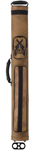 Outlaw 2-Butt And 2-Shaft Vinyl Pool Cue Case With Guns Design