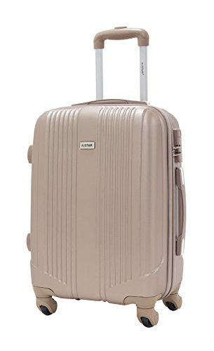 Valise cabine 55cm - Trolley ALISTAIR Airo - ABS ultra Léger - 4 roues - Champagne
