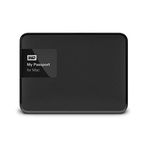 WD HDD ポータブル ハードディスク 2TB USB3.0 My Passport for Mac WDBCGL0020BSL-PESN / 暗号化 パスワード保護 / 3年保証