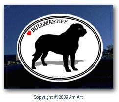 Amazon.com: BULLMASTIFF - Dog Decal bumper sticker I love