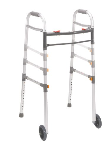 Drive Medical 10253-1 Two Button Folding Universal Walker wi