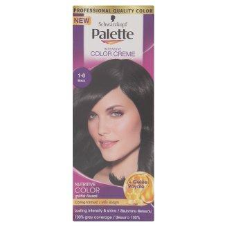 PALETTE By Schwarzkopf Intensive Permanent Colour Cream Hair Colour 1-0 BLACK 100 ML