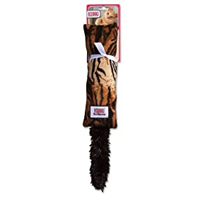 KONG Kickeroo Pattern #3 Catnip Cat Toy, Tiger
