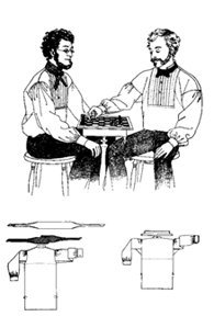 Men's Vintage Reproduction Sewing Patterns 1854-1870 Fitted Shirt with Attached Collar Plaited Front and French Cuffs Pattern $10.95 AT vintagedancer.com