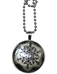 Bilipala Snowflake Glow In Dark Necklace, Christmas Gift For Kids