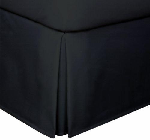 Lux Hotel Basic Microfiber 14-Inch Bed Skirt, Full, Black