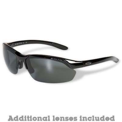 Smith Parallel Max Polarized Sunglasses Black/Gray-Ignitor-Clear, One Size - Men's