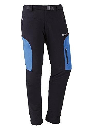 Furco Haute - Pantalón con cintura elástica para hombre, color negro / azul royal, talla 3XL