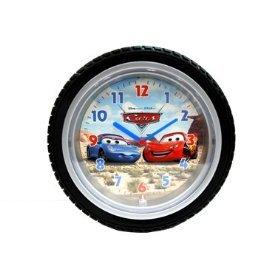 disney cars mcqueen wall clock - tire shape