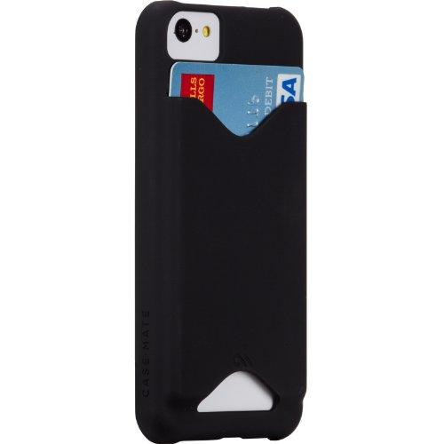 【日本限定特典 自動改札機エラー防止シート付属】 Case-Mate 日本正規品 iPhone5c Barely There ID Case, Matte Black ベアリーゼア ID ケース, マット ブラック 【カードホルダー つき】 CM029363