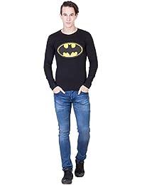 Future Shoppers Men's Full Sleeve Batman Round Neck T-Shirt