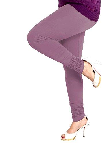 Lux Women Cotton Leggings -Light Lavender -Free Size