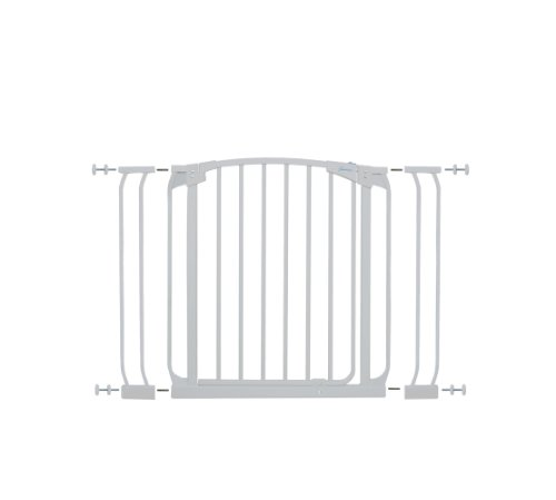Dreambaby Chelsea Auto Close Security Gate in White with Ext