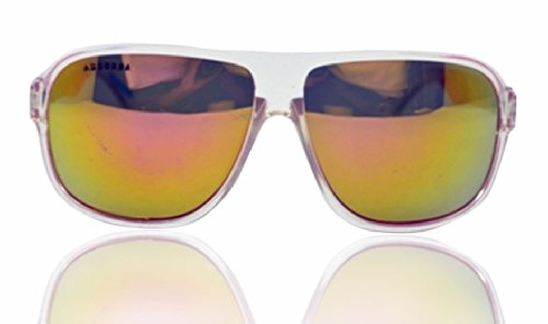 """AMERICAN CLUB """"Arizona Achievers, Instant Classic"""" Off-white And Royal-Red Aviator Sunglasses"""