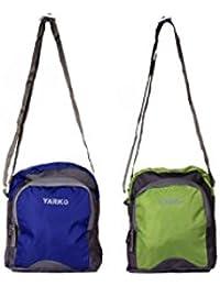 Yark Cross Body/Side Multipurpose Sling Bag Set Of 2 (Y608 Navy & Green)