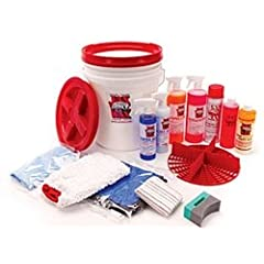 Jax Wax Complete Scratch-Free Wash Wax and Detail Bucket Car Care Organizer Kit