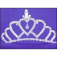 Queen of Hearts Rhinestone and Silver Tiara