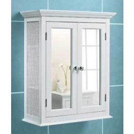 white mirrored bathroom wall cabinet white bathroom wall cabinet rattan sides mirror doors 24668