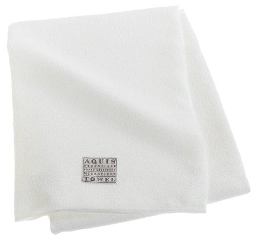 Aquis Microfiber Body Towel, Lisse Crepe, White (29 x 55-Inches)
