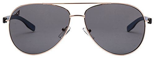 Vincent Chase VC 5192 Golden Black Blue Grey C12 Aviator Light-Weight Sunglasses (103633)