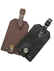 Conair Travel Smart Embossed Genuine Leather Luggage Tag (Color May Very)
