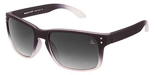 Vincent Chase VC 5204 Matte Black Transparent Grey Gradient C6 Wayfarer Sunglasses (106525)