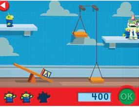 Use a level and pulley to help Buzz across the room.