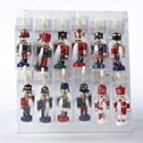 2.5 Inch Wooden Clip-on Mini Nutcrackers - Set Of 12