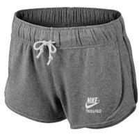 NIKE Damen kurze Sporthose Vintage Fleece Tempo, Dk grey