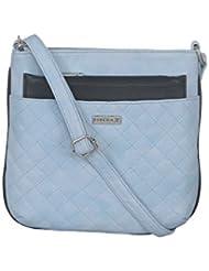ESBEDA Light Blue Color Quilted Slingbag For Womens - B01KVFS4GA