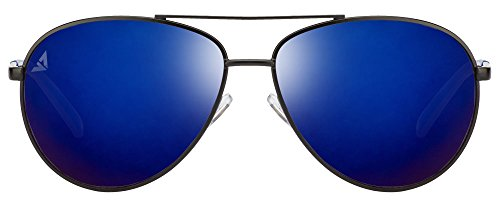 Vincent Chase VC 6962 Matte Black Sky Blue Mirror C5 Aviator Sunglasses (103673)