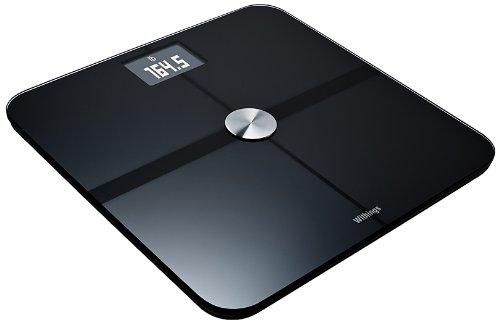 Withings Smart Body Analyzer ネットワーク対応 体重計 ( Bluetooth Wi-Fi 機能 / 超薄型 / BMI 体脂肪 心拍数 測定可 / ブラック ) WS-50