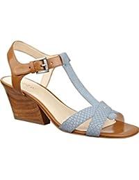 Nine West Women S Geralda Leather Wedge Sandal Blue Multi Leather 8 B(M) US