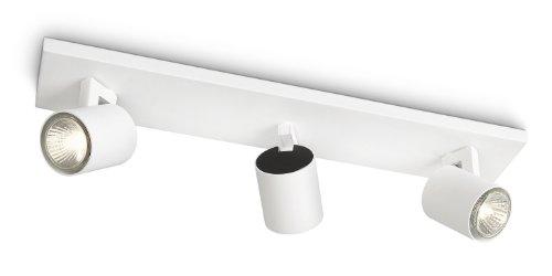 Philips Runner Barra Spot 3 Luci in Metallo Bianco, Lampadina...