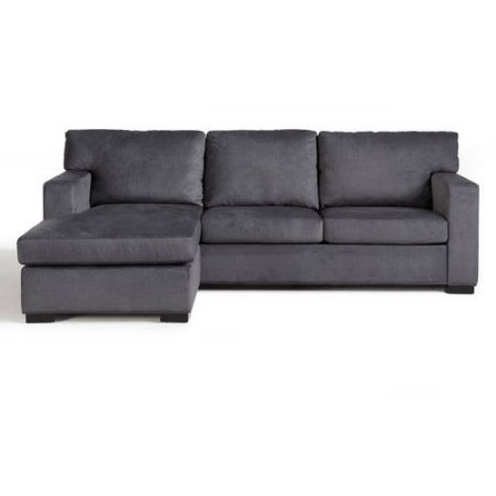 Better Homes and Gardens Oxford Square Reversible Sectional Charcoal