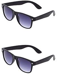 SHEOMY COMBO OF BLACK BLUE WAYFARER AND BLACK BLUE WAYFARER SUNGLASSES WITH 2 BOX (SUN-044)