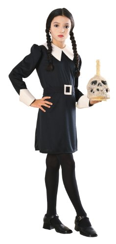 Great Group Halloween Costumes: The Addams Family - Addams Family Child's Wednesday Addams Costume - Group Halloween Costumes: The Addams Family
