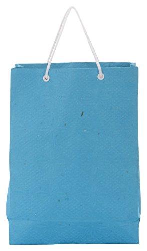 Utsav Kraft Paper 3 Ltrs Blue Reusable Shopping Bags (pack Of 10) - B01LXT4MD5