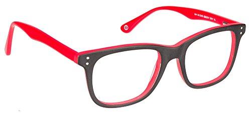 John Jacobs JJ 1352 Matte Black Red VO30EO Wayfarer Eyeglasses(95368)