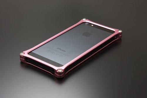Gild+design+【iPhone5対応アルミバンパー】+ソリッドバンパー+for+iPhone5+ピンク+GI-222PI