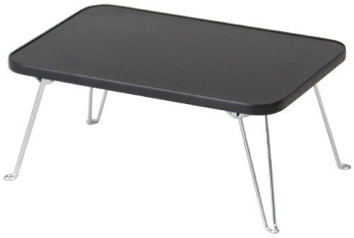 不二貿易 カラー ミニ テーブル ブラック CCB4530-BK 85593