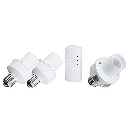 3pcs Led Remote Control Wireless Light Bulb Socket Cap Switch For