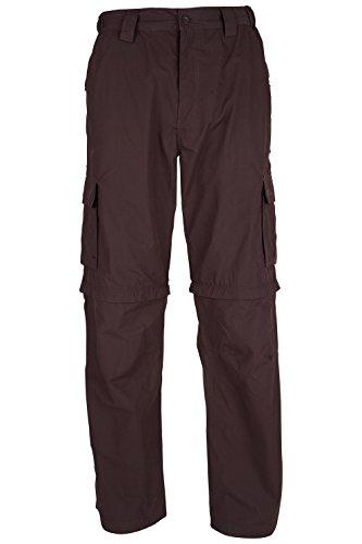 Mountain Warehouse Pantalones desmontables Trek para hombre Marron 54
