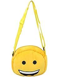EMOTICON Yellow Colour Sling Bag By JDK NOVELTY (BGSL3951E)